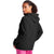 Champion USA Womens Powerblend Graphic Hooded Sweatshirt - Black