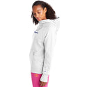 Champion USA Womens Powerblend Graphic Hooded Sweatshirt - White