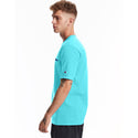 Champion USA Heritage T-Shirt (Embroidered Logo) - Blue Horizon