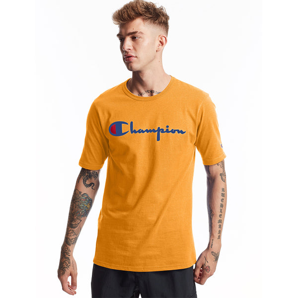 Champion USA Heritage T-Shirt (Embroidered Logo) - C Gold