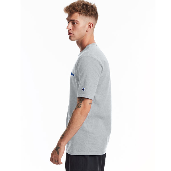 Champion USA Heritage T-Shirt (Embroidered Logo) - Oxford Gray