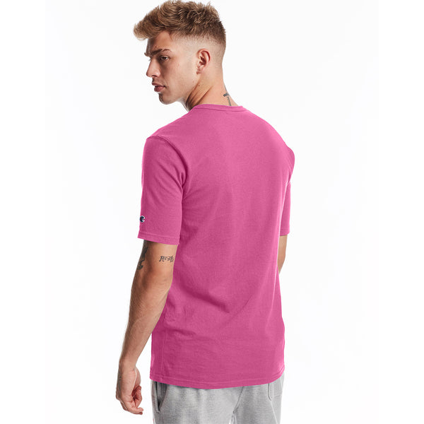 Champion USA Heritage T-Shirt (Embroidered Logo) - Peony Parade Pink