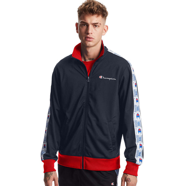 Champion Tricot Track Jacket - Navy/Scarlet