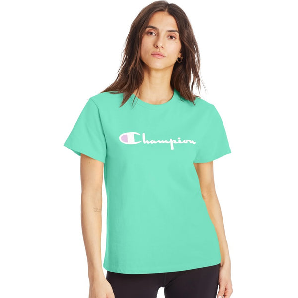 Champion USA Womens The Heritage T-Shirt - Light Sea Green
