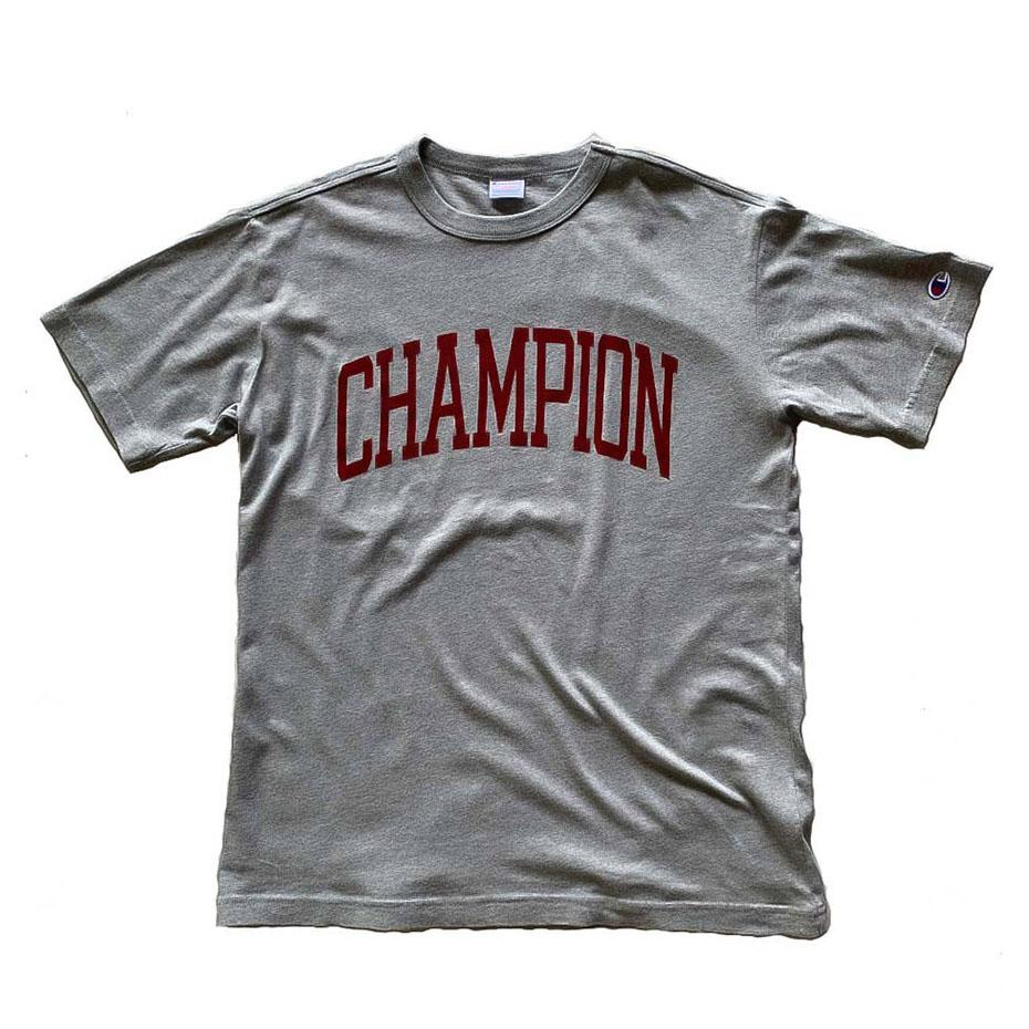Champion Japan Mens College Campus T-Shirt Oxford Grey - ANTHEM