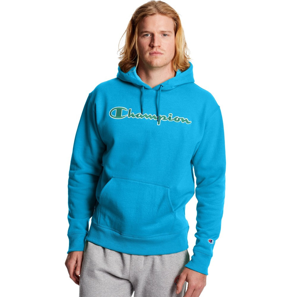 Champion USA Powerblend Applique Hooded Sweatshirt