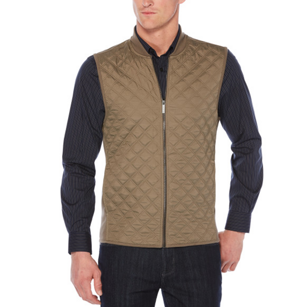 Perry Ellis Front Zip Vest - Bungee Cord - ANTHEM