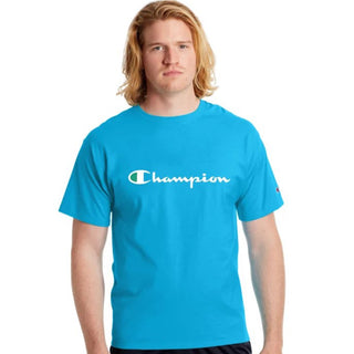 Champion USA Mens Classic Graphic Tee Deep Blue Water - ANTHEM