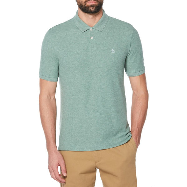 Original Penguin Linen Polo Shirt - Sagebrush Green