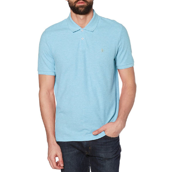Original Penguin Linen Polo Shirt - Sargasso Sea