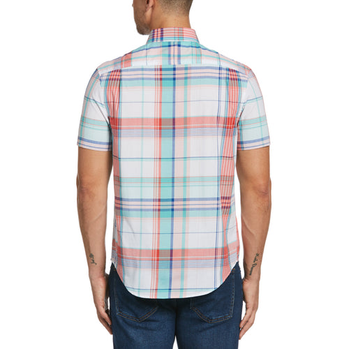 Original Penguin Bold Plaid Poplin Short Sleeve Woven Shirt - ANTHEM