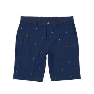 Original Penguin Flamingo Seersucker Printed Short - Black Iris - ANTHEM