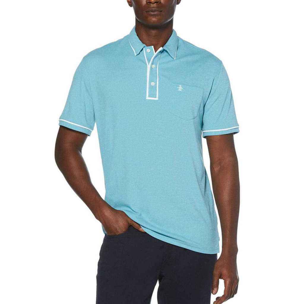 Original Penguin Golfer Earl Polo Shirt - Caribbean Sea - ANTHEM