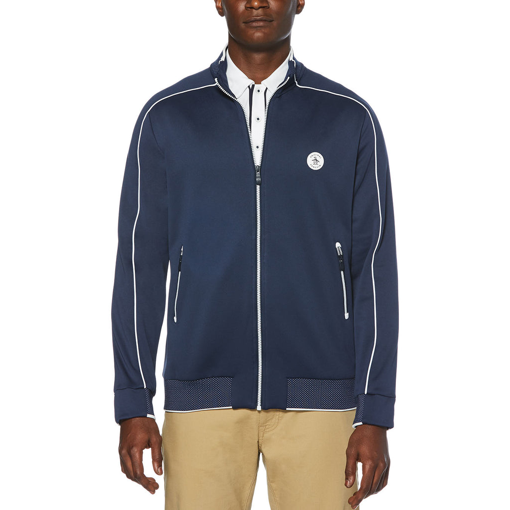 Original Penguin Birdseye View Track Jacket - Black Iris - ANTHEM
