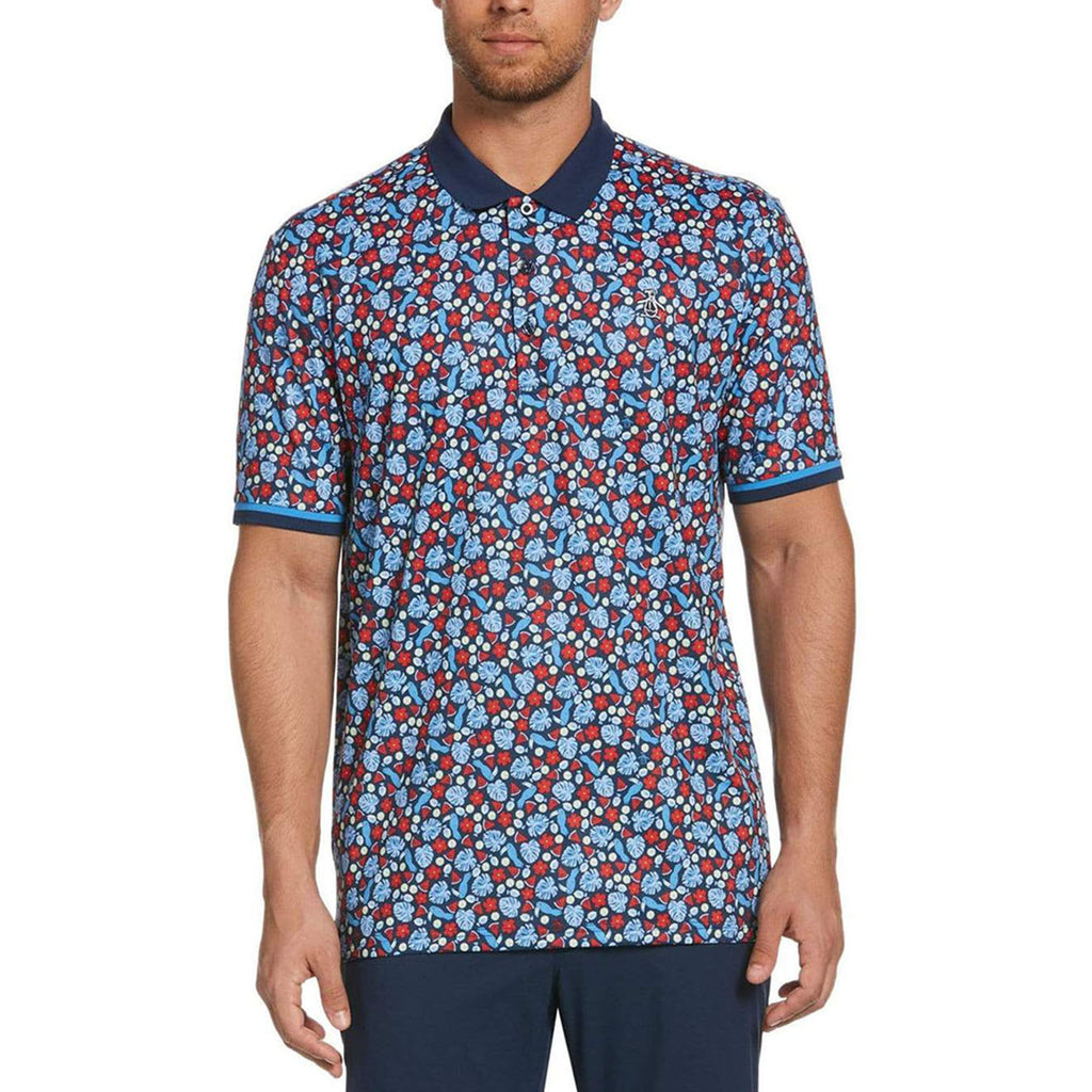 Original Penguin Pete In Paradise Polo Shirt - Black Iris - ANTHEM