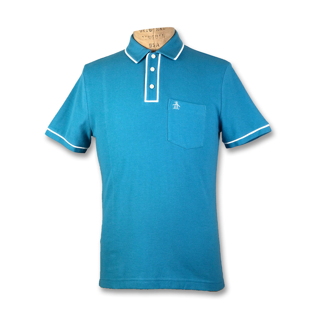 Original Penguin Earl Basic Polo Shirt - Blue Moon