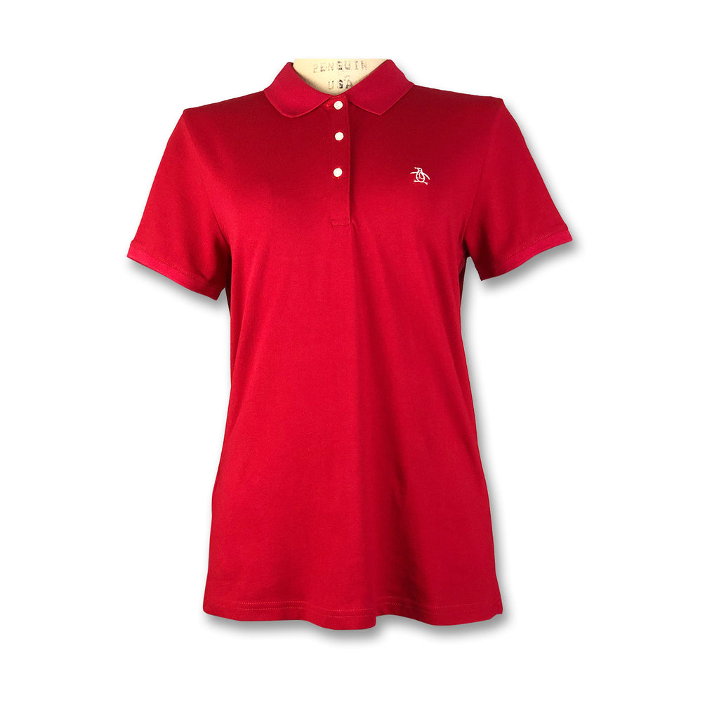 Original Penguin Womens Slim Fit Polo Shirt - Red