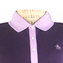 Original Penguin Womens Contrast Collar Polo Shirt - Nightshade