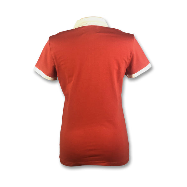 Original Penguin Womens Contrast Collar Polo Shirt - Ketchup