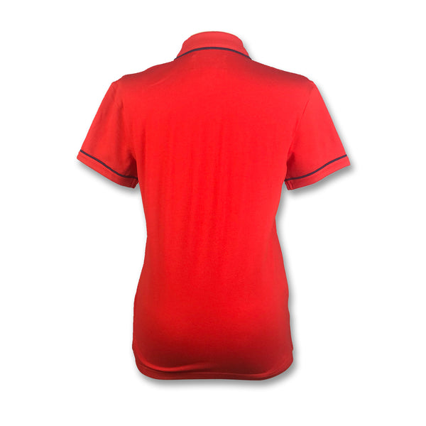 Original Penguin Womens Veronica Pointed Collar Polo Shirt - High Risk Red