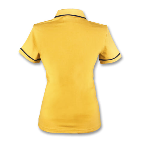 Original Penguin Womens Veronica Pointed Collar Polo Shirt - Honey Gold