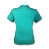 Original Penguin Womens Veronica Pointed Tricolor Polo Shirt - Bright Aqua