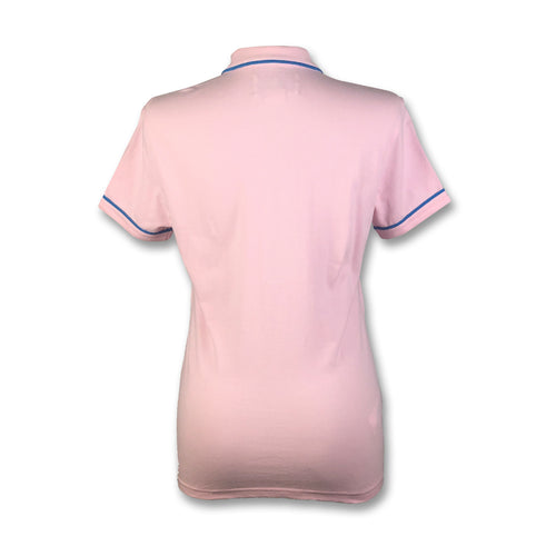 Original Penguin Womens Veronica Pointed Tricolor Polo Shirt - Parfait Pink