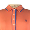 Original Penguin Womens Veronica Pointed Tricolor Polo Shirt - Persimmon