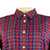 Original Penguin Womens Holiday Roadmap Check Woven Shirt - Dark Sapphire