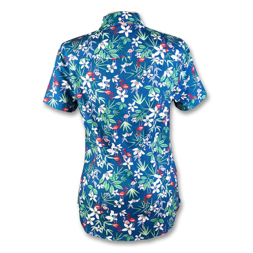 Original Penguin Womens Dobby Floral Woven Shirt - Deep Water