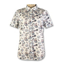 Original Penguin Womens Printed Poplin Woven Shirt  - Bright White