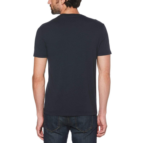 Original Penguin Basic Stamp Logo T-Shirt - Dark Sapphire
