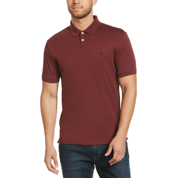 Original Penguin Daddy-O Interlock Polo Shirt - Tawny Port