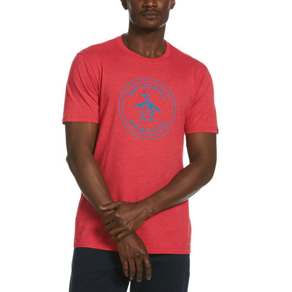 Original Penguin Circle Pete T-Shirt - Cardinal