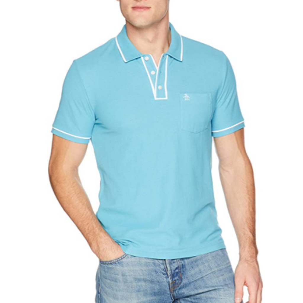Original Penguin Earl Basic Polo Shirt - Delphinium Blue