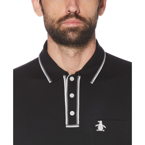 Original Penguin The Earl 3D Polo Shirt - True Black