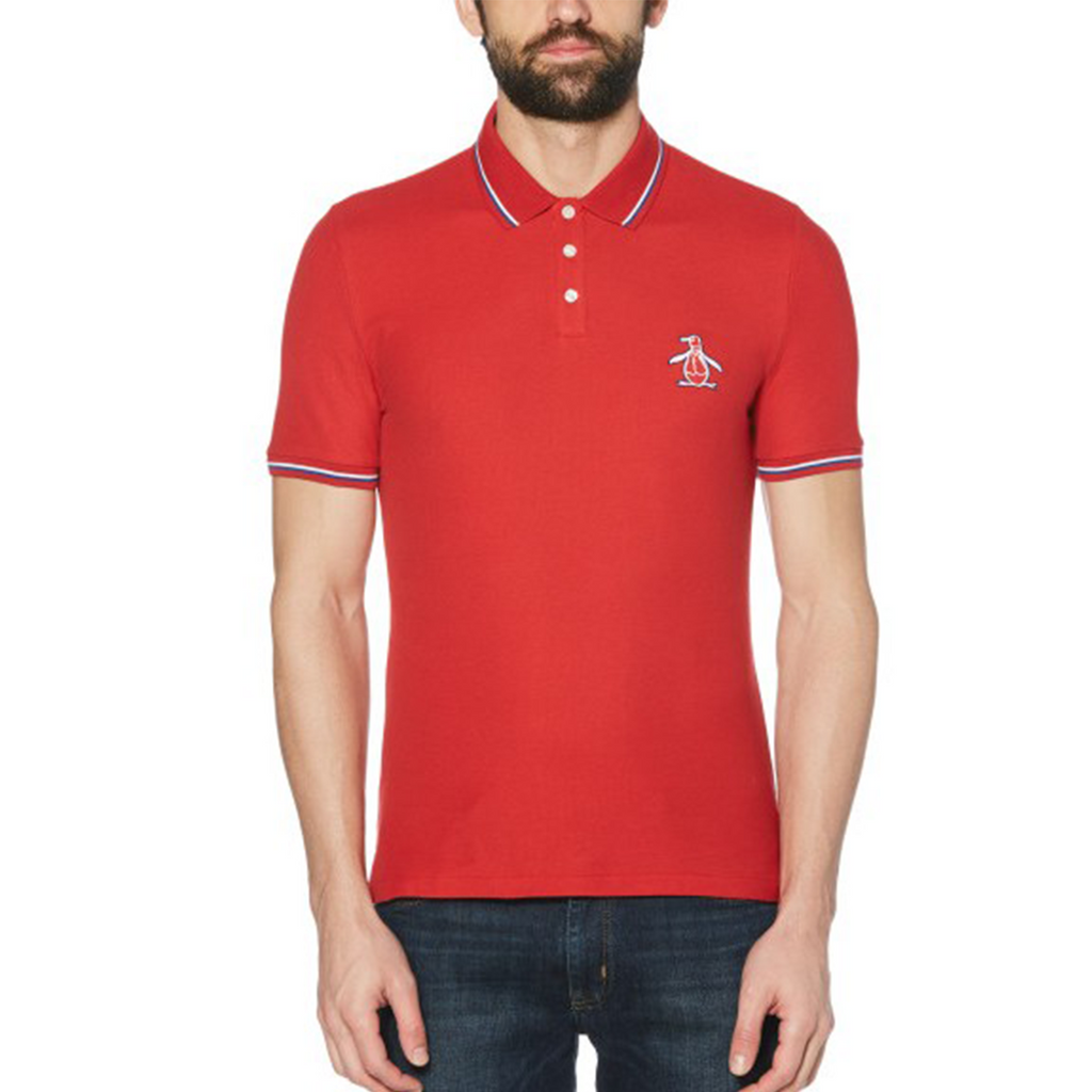 Original Penguin Mega Pete Polo Shirt - Scarlet Sage