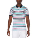 Original Penguin Knit Multi Stripe Short Sleeve Polo Shirt