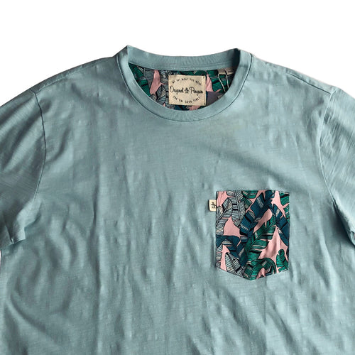 Original Penguin Pete Fill T-Shirt Cool Blue