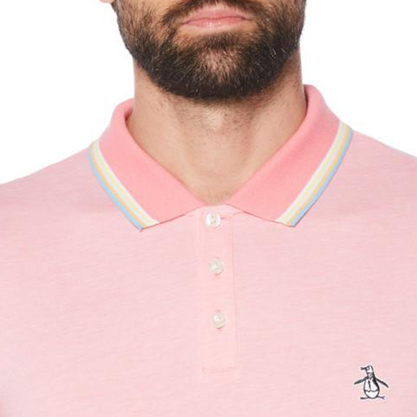 Original Penguin Tipped Birdseye Polo Shirt - Confetti