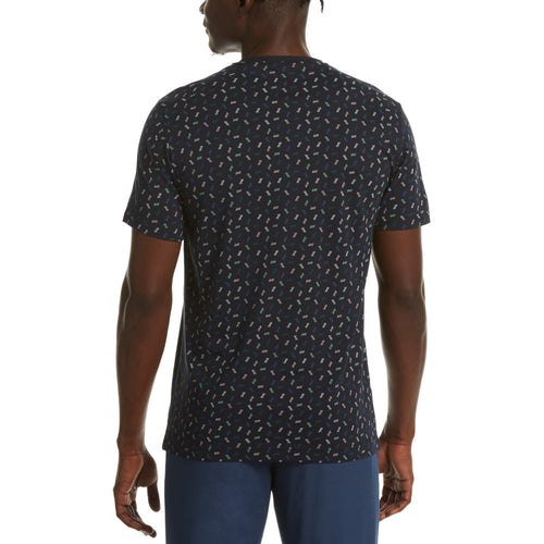 Original Penguin Fashion Ditsy Print T-Shirt - Dark Sapphire