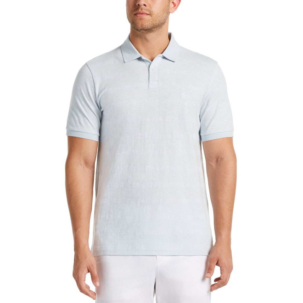 Original Penguin Multi Stripe Polo Shirt Ballad Blue - ANTHEM