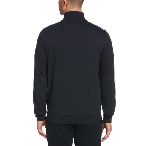 Original Penguin Knit Sleeve Tape Track Jacket  - Dark Sapphire