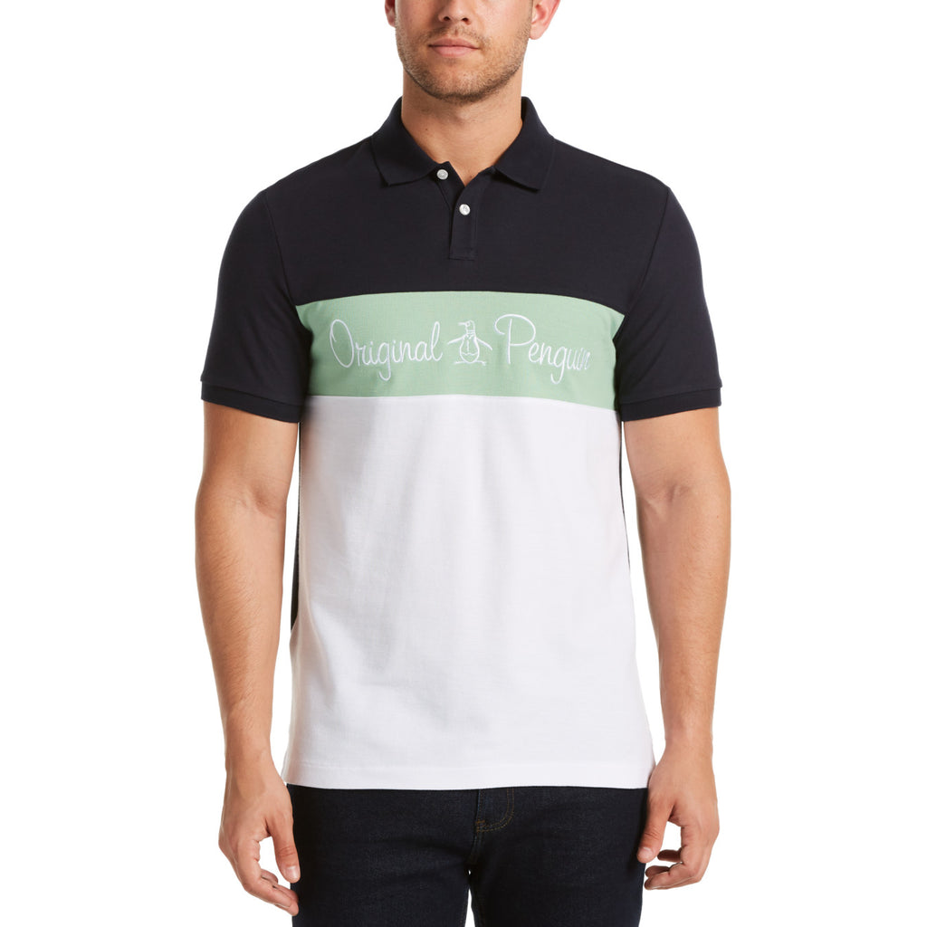 Original Penguin Chest Stripe Logo Polo Shirt - ANTHEM