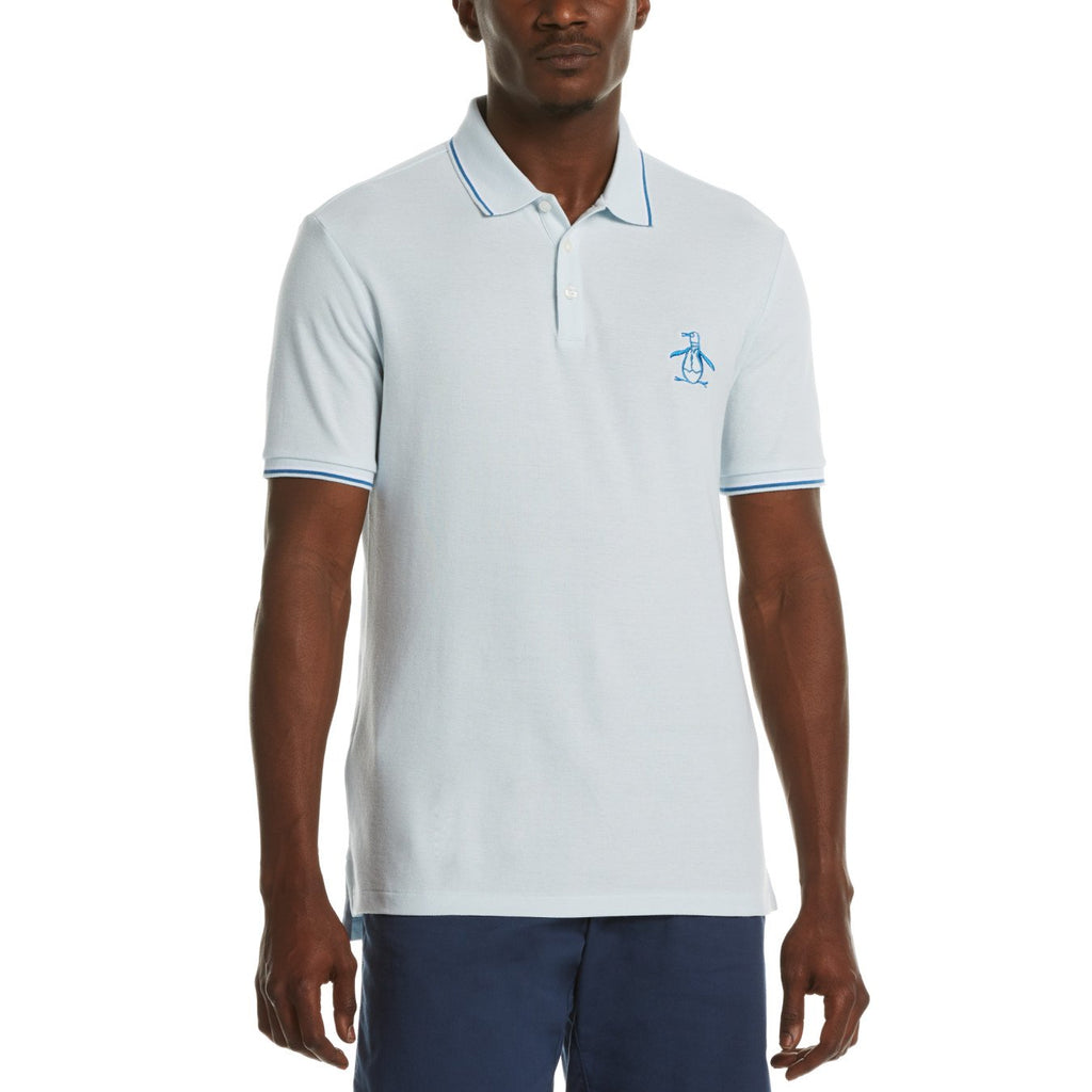 Original Penguin Mega Pete Polo Shirt Ballad Blue - ANTHEM