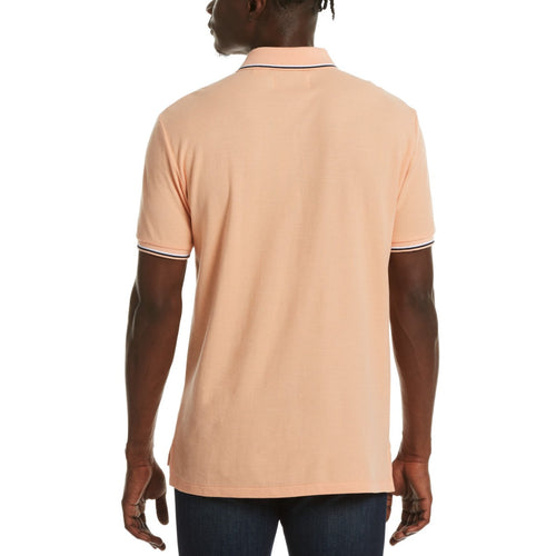 Original Penguin Mega Pete Polo Shirt Coral Sands - ANTHEM