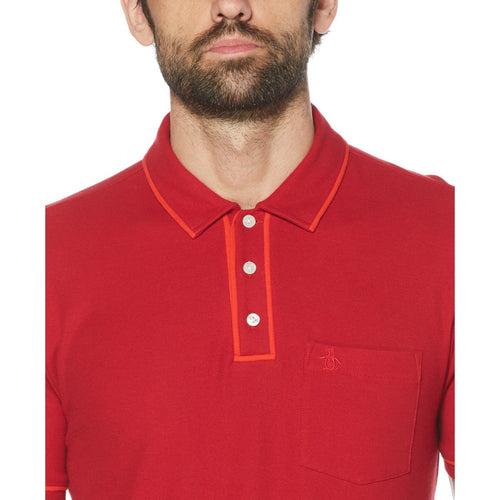 Original Penguin The Earl Polo Shirt Red - ANTHEM
