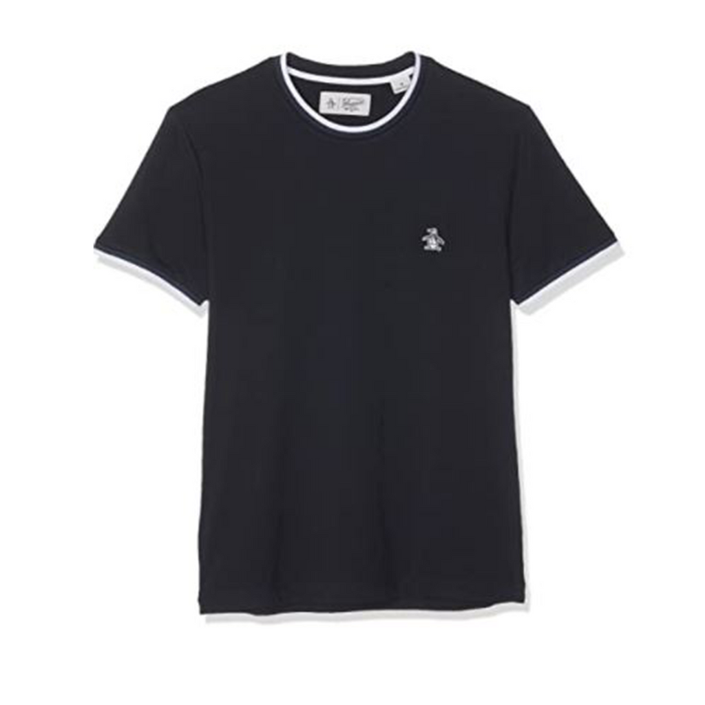 Original Penguin Sticker Pete T-Shirt - Dark Sapphire