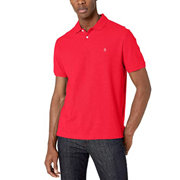 Original Penguin Daddy-O 2.0 Classic Fit Polo Shirt - Lipstick Red