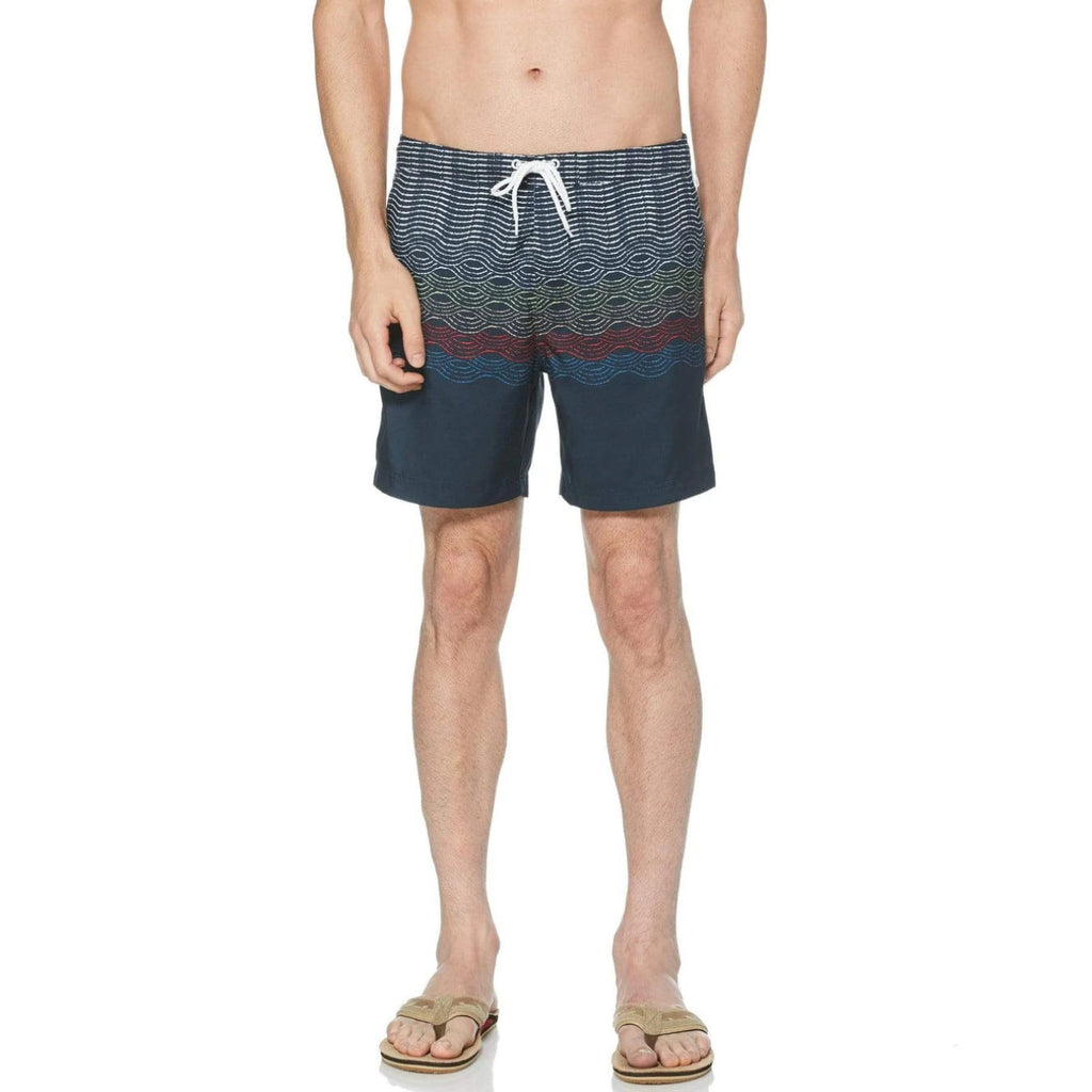 Original Penguin Wave Print Swim Short - ANTHEM